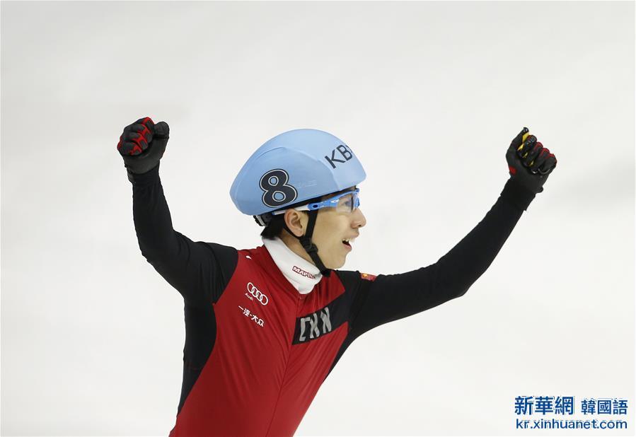 (體育)(1)短道速滑——世錦賽:韓天宇獲得男子全能冠軍