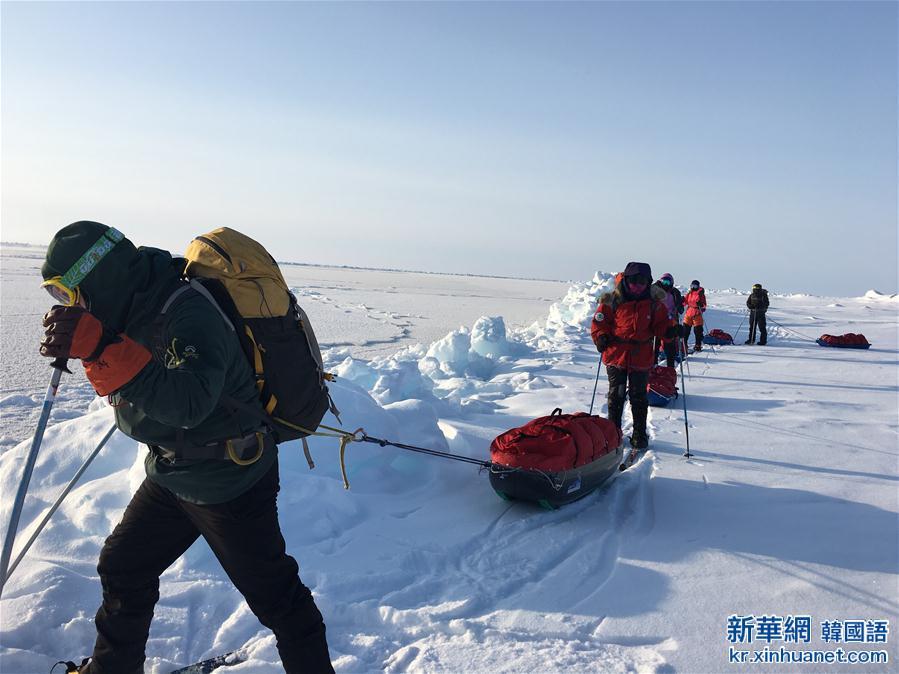 (體育)(4)中國地質大學(武漢)登山隊徒步到達北極點