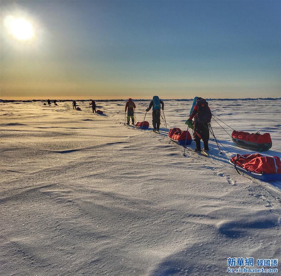 (體育)(5)中國地質大學(武漢)登山隊徒步到達北極點