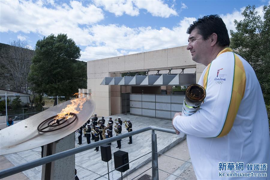 (裏約奧運會)(4)裏約奧運會聖火抵達希臘首都雅典