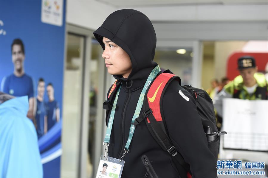 (裏約奧運會)(1)田徑——中國田徑隊抵達裏約