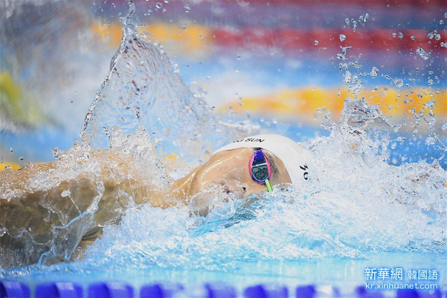 (裏約奧運會)(1)遊泳——男子400米自由泳:孫楊獲得銀牌