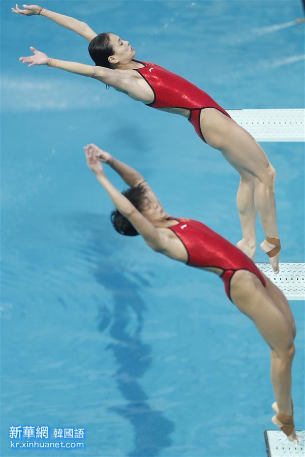(裏約奧運會)(4)跳水——女子雙人三米板:吳敏霞和施廷懋奪冠