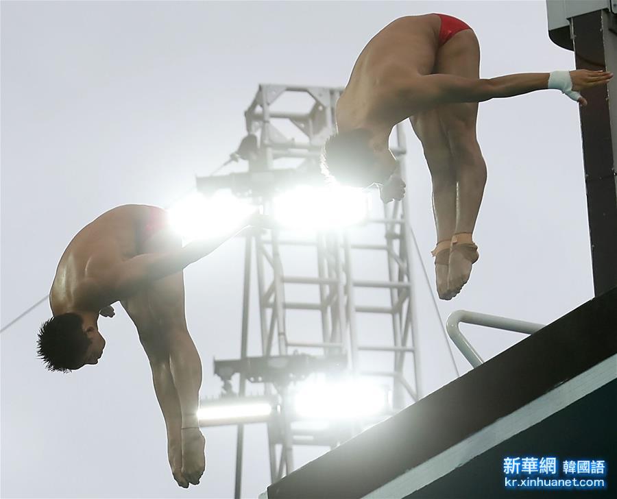 (裏約奧運會)(1)跳水——男子雙人十米臺:林躍/陳艾森奪冠