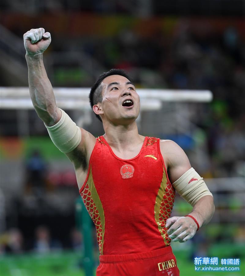 (裏約奧運會)(1)體操——男子團體決賽:中國隊獲銅牌