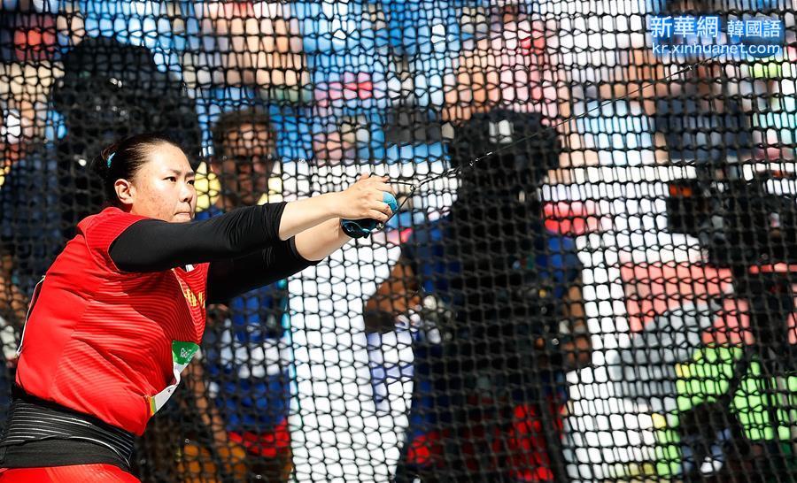 (裏約奧運會)(2)田徑——女子鏈球:張文秀獲銀牌