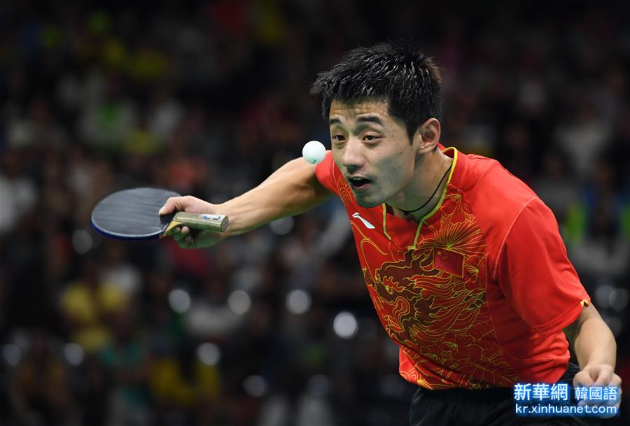 (裏約奧運會)(17)乒乓球——中國男團晉級決賽