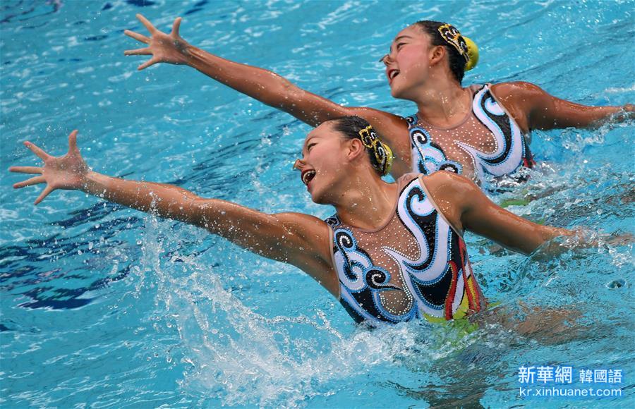 (裏約奧運會)(4)花樣遊泳——黃雪辰/孫文雁獲得雙人自由自選銀牌
