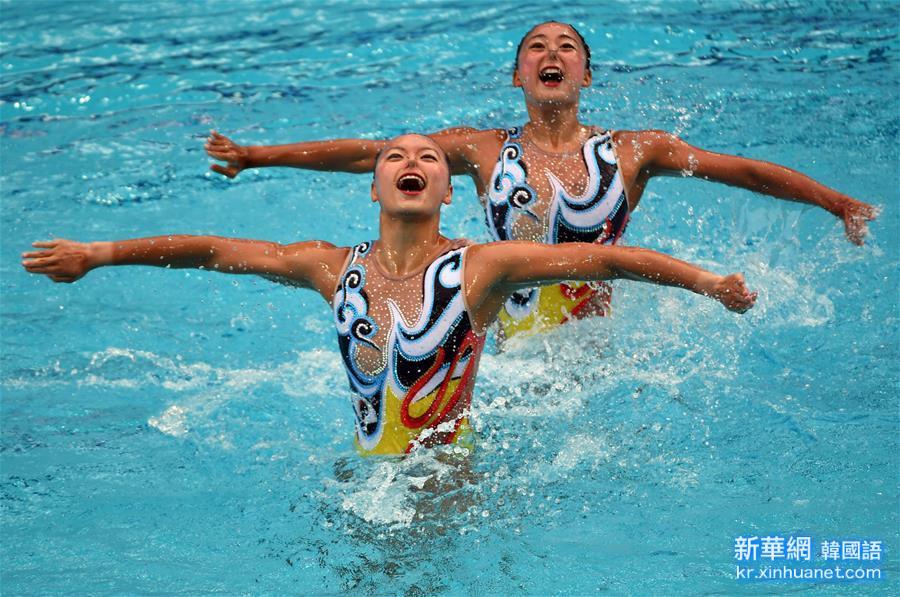 (裏約奧運會)(11)花樣遊泳——黃雪辰/孫文雁獲得雙人自由自選銀牌