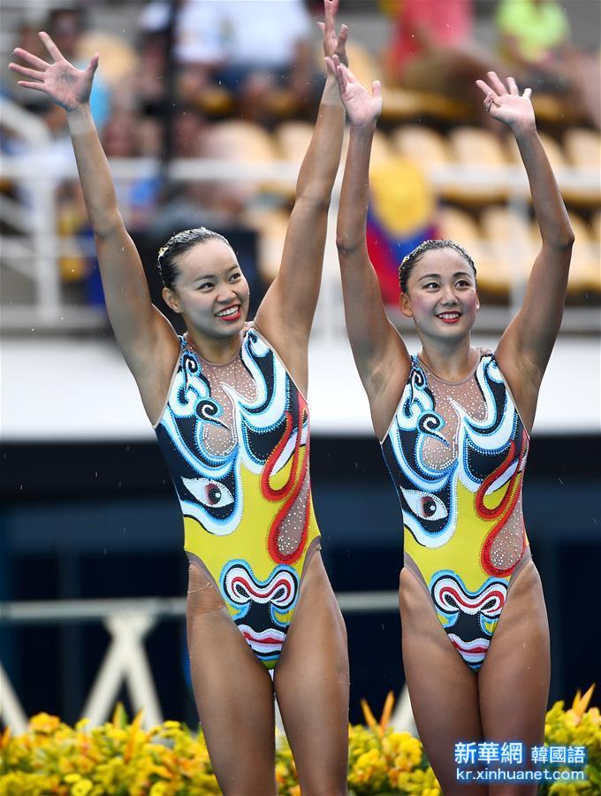 (裏約奧運會)(18)花樣遊泳——黃雪辰/孫文雁獲得雙人自由自選銀牌