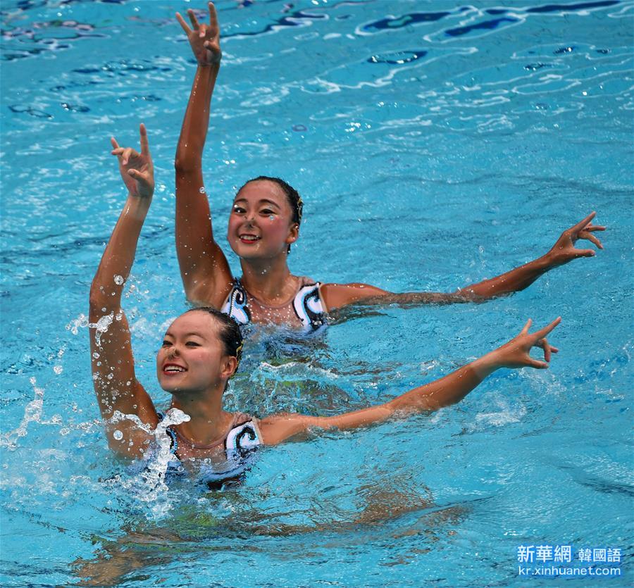 (裏約奧運會)(5)花樣遊泳——黃雪辰/孫文雁獲得雙人自由自選銀牌