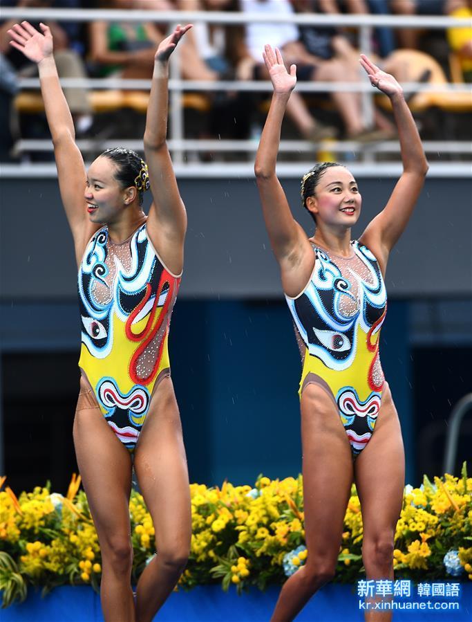 (裏約奧運會)(17)花樣遊泳——黃雪辰/孫文雁獲得雙人自由自選銀牌