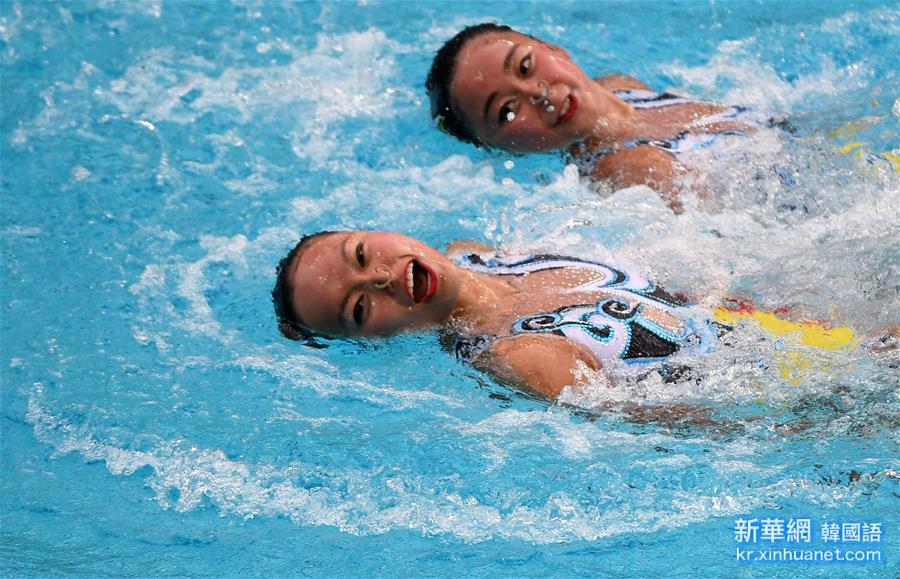 (裏約奧運會)(1)花樣遊泳——黃雪辰/孫文雁獲得雙人自由自選銀牌
