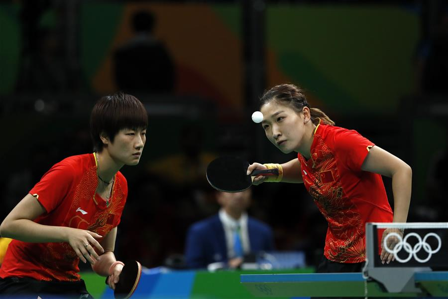 (裏約奧運會)(15)乒乓球——中國女隊奪金