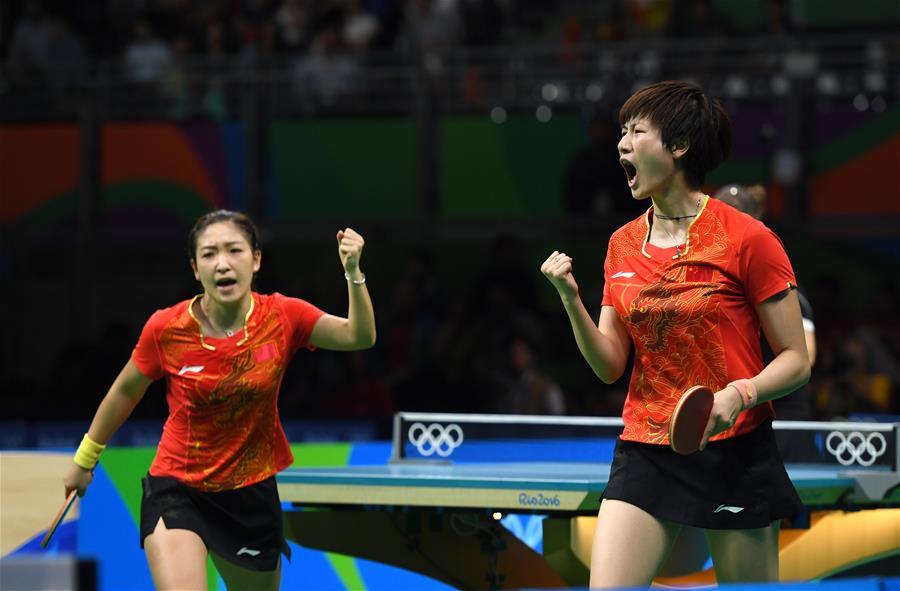 (裏約奧運會)(6)乒乓球——中國女隊奪金