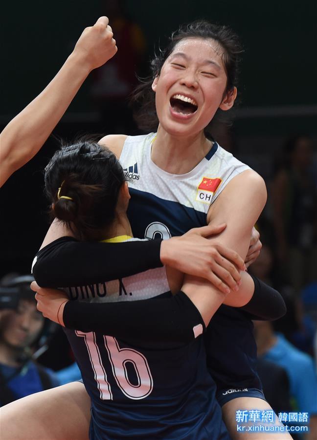 (裏約奧運會)(7)排球——女排:中國隊晉級四強