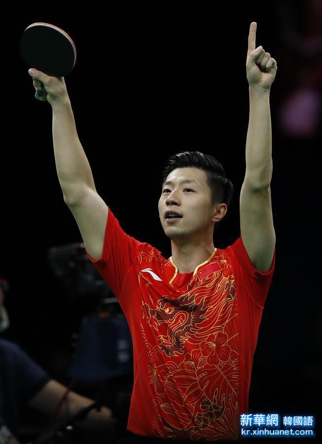 (裏約奧運會)(6)乒乓球——男子團體金牌爭奪戰:中國隊對陣日本隊
