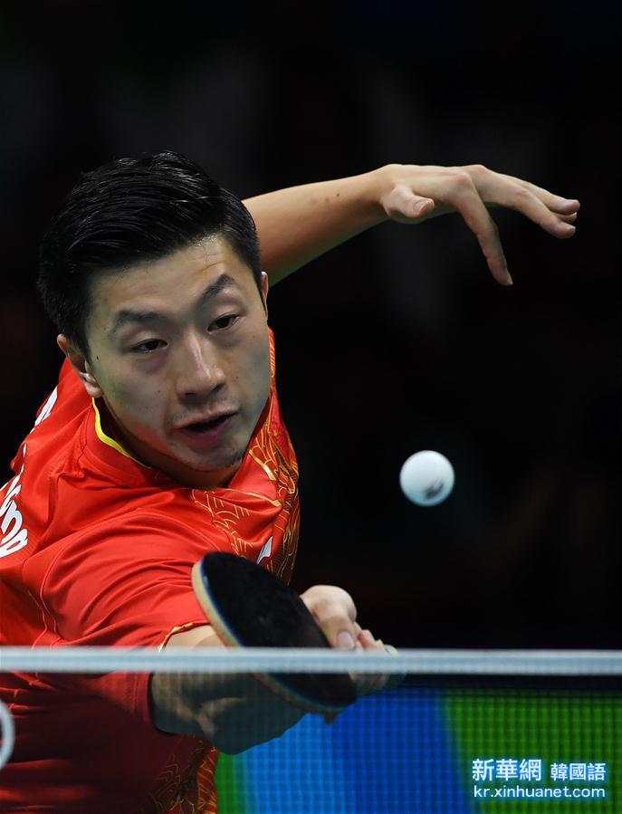 (裏約奧運會)(13)乒乓球——中國男隊奪金