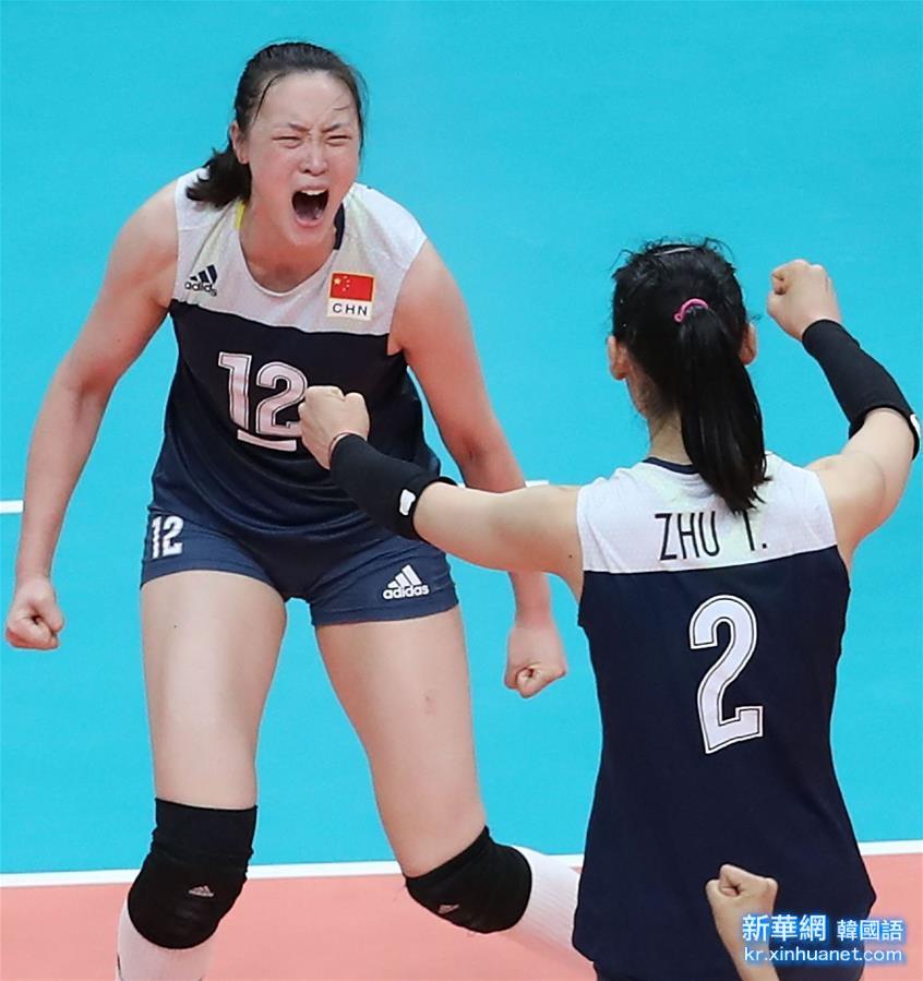 (裏約奧運會)(27)排球——女排:中國隊挺進決賽
