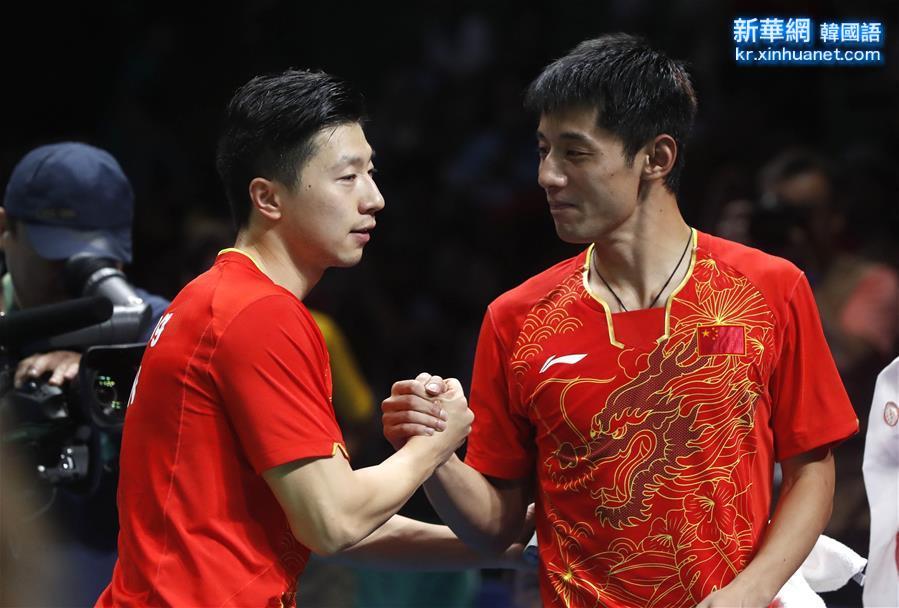 (裏約奧運會·奪冠一刻)(4)乒乓球——中國男隊奪金