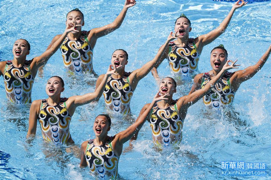 (裏約奧運會)(1)花樣遊泳——中國隊獲集體自由自選決賽銀牌