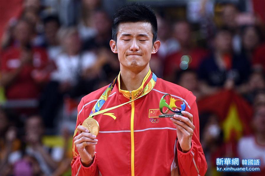 (裏約奧運會·名人相冊)(2)羽毛球——男單決賽:諶龍奪冠