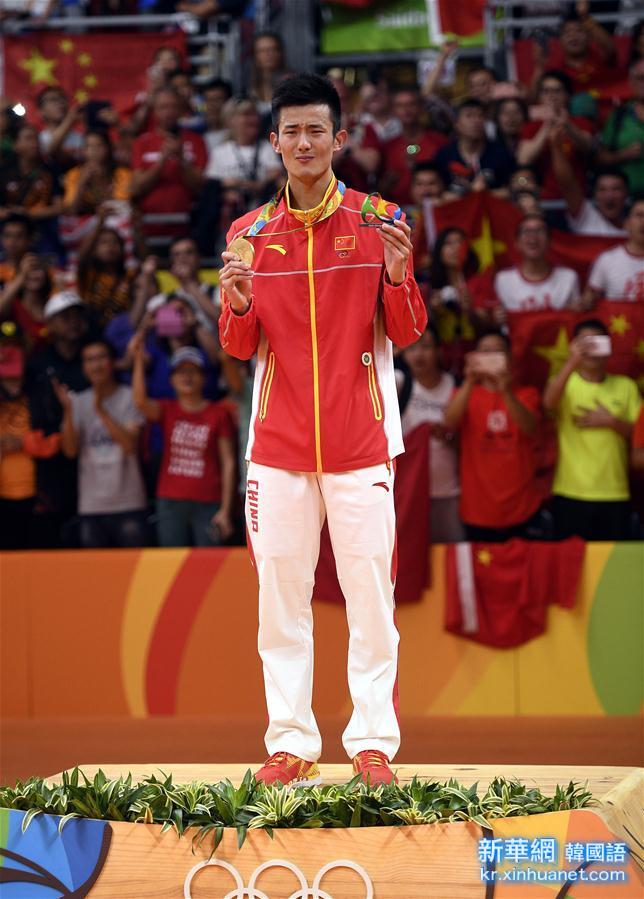 (裏約奧運會·領獎臺)(11)羽毛球——男子單打頒獎儀式