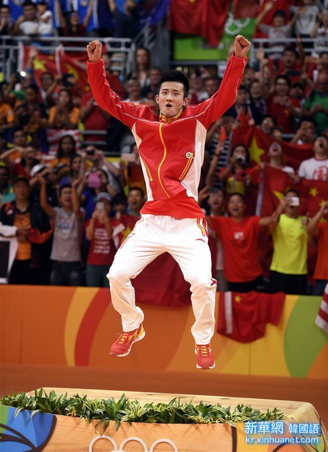 (裏約奧運會·領獎臺)(13)羽毛球——男子單打頒獎儀式