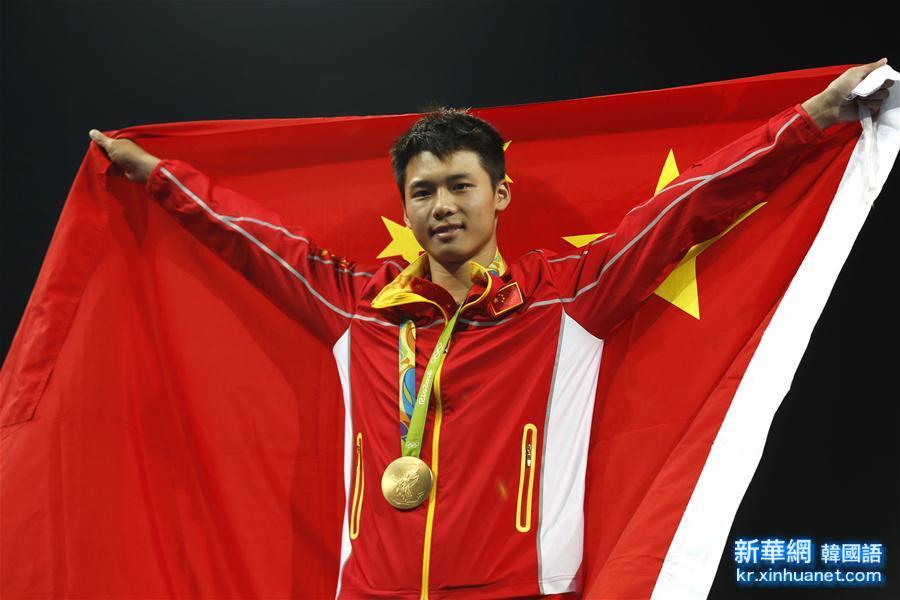 (裏約奧運會·領獎臺)(2)跳水——男子10米臺:陳艾森奪金