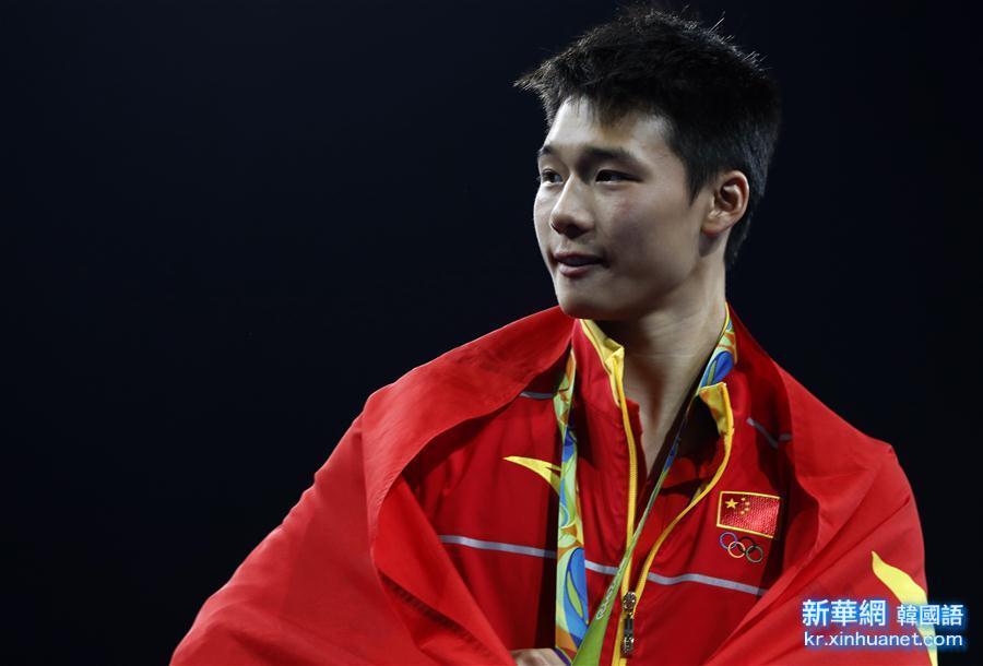 (裏約奧運會·領獎臺)(4)跳水——男子10米臺:陳艾森奪金