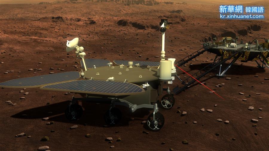 """(科技)(2)中國火星車亮相 有4個""""大翅膀"""""""