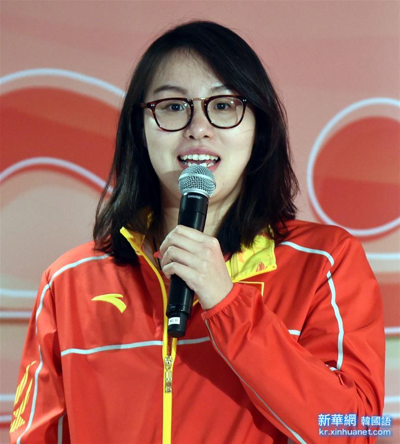 (奧運健兒訪港澳)(3)內地奧運精英代表團在香港舉行新聞發布會