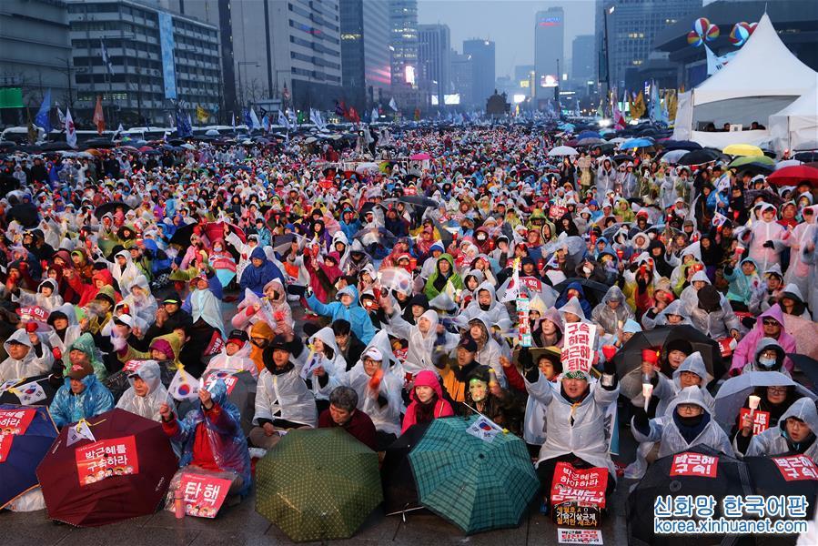 """(國際)(1)韓國""""倒樸""""""""挺樸""""民眾舉行對立集會"""