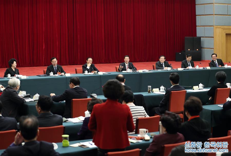 (兩會)張高麗看望致公、僑聯、對外友好界委員並參加討論