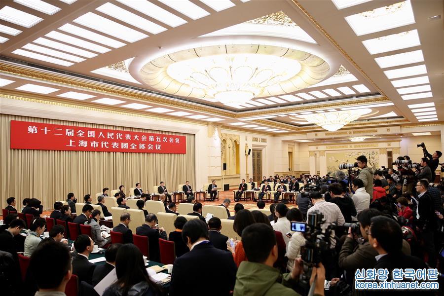 (兩會)上海代表團全體會議向媒體開放