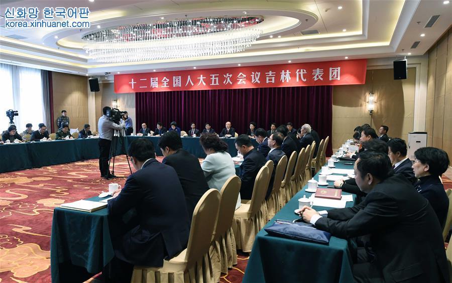 (兩會)吉林代表團全體會議向媒體開放