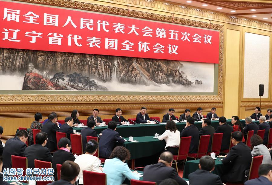 (兩會)習近平參加遼寧代表團審議