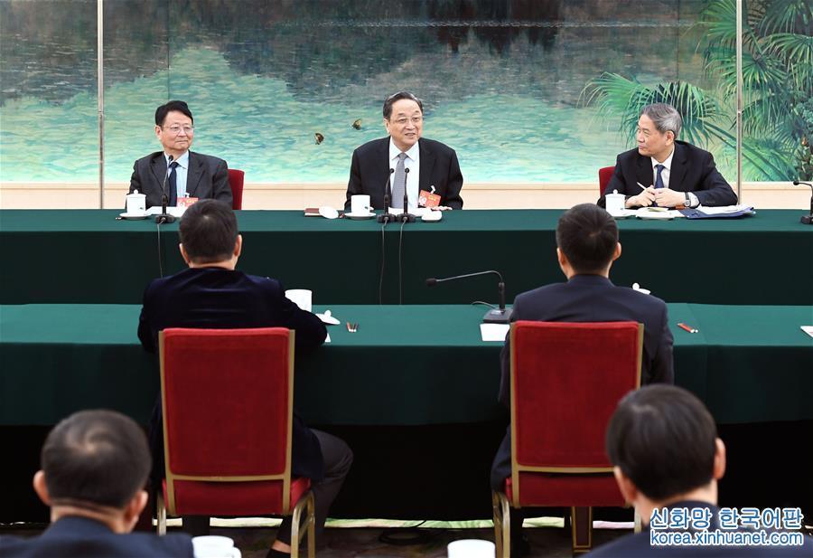 (兩會)俞正聲參加臺灣代表團審議