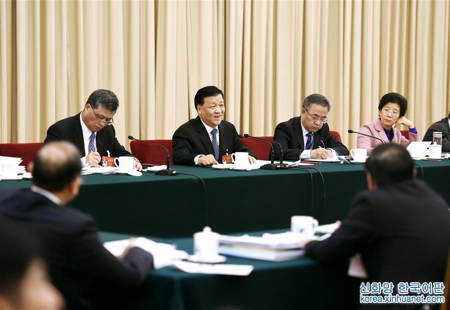 (兩會)劉雲山參加廣東代表團審議