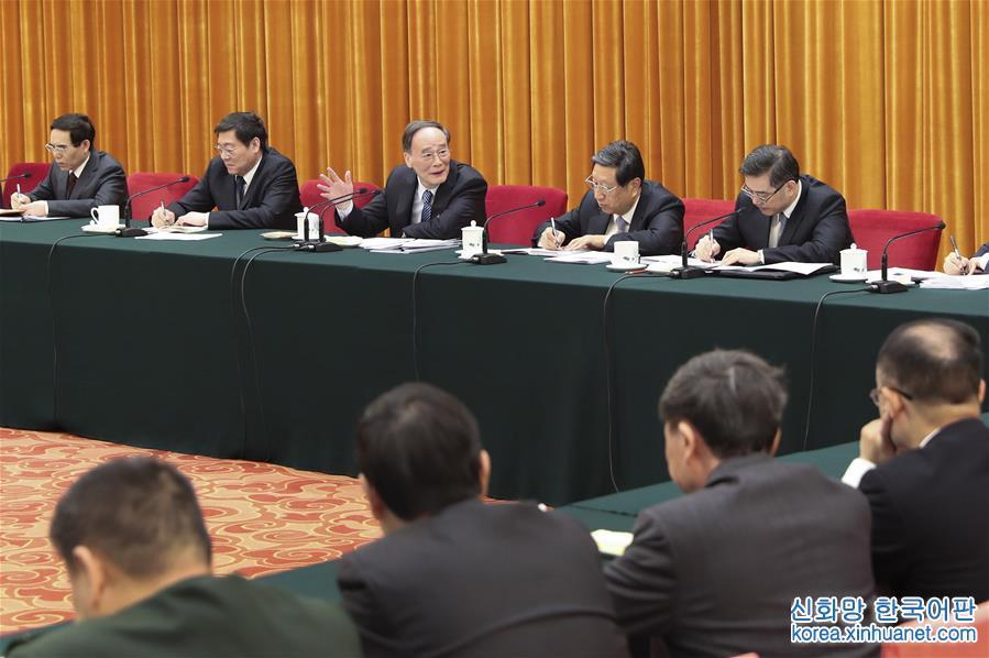 (兩會)王岐山參加湖南代表團審議
