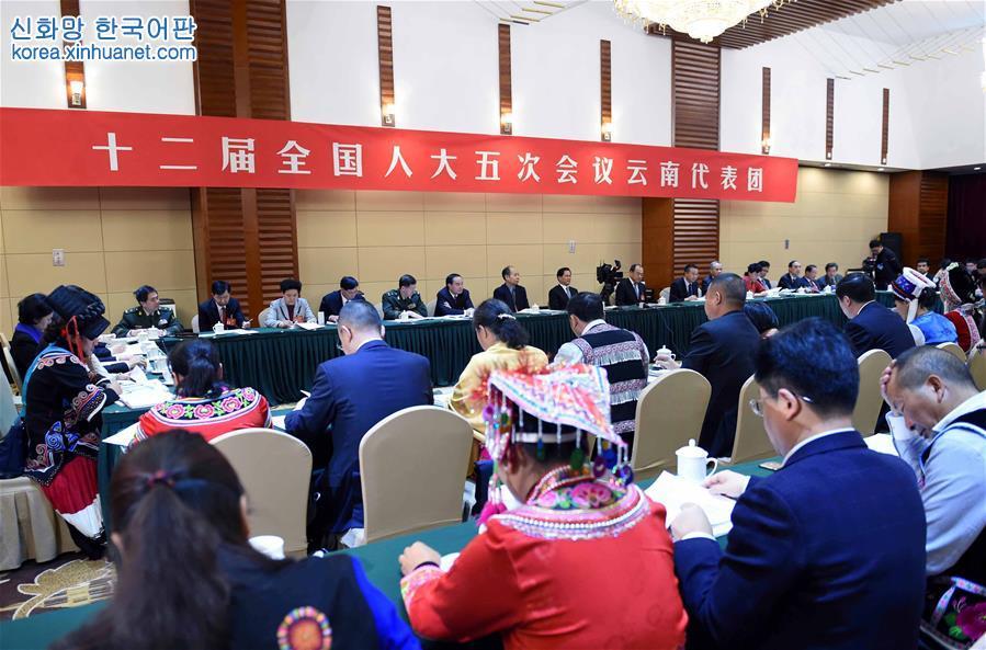 (兩會)雲南代表團全體會議向媒體開放