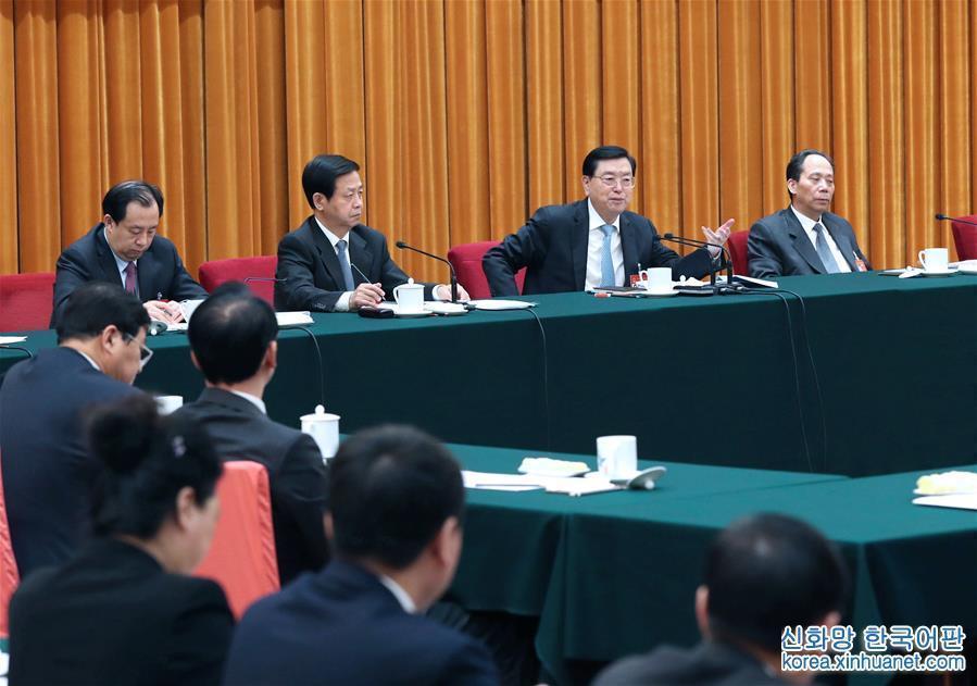 (兩會)張德江參加黑龍江代表團審議
