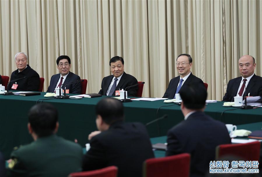 (兩會)劉雲山參加吉林代表團審議
