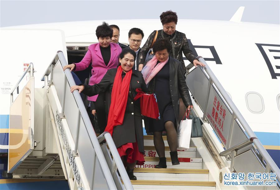 (十九大)出席十九大的新疆代表团抵京