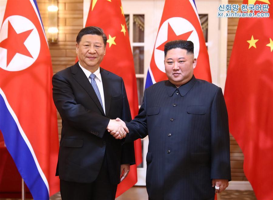 (時政)(1)習近平同朝鮮勞動黨委員長、國務委員會委員長金正恩舉行會談