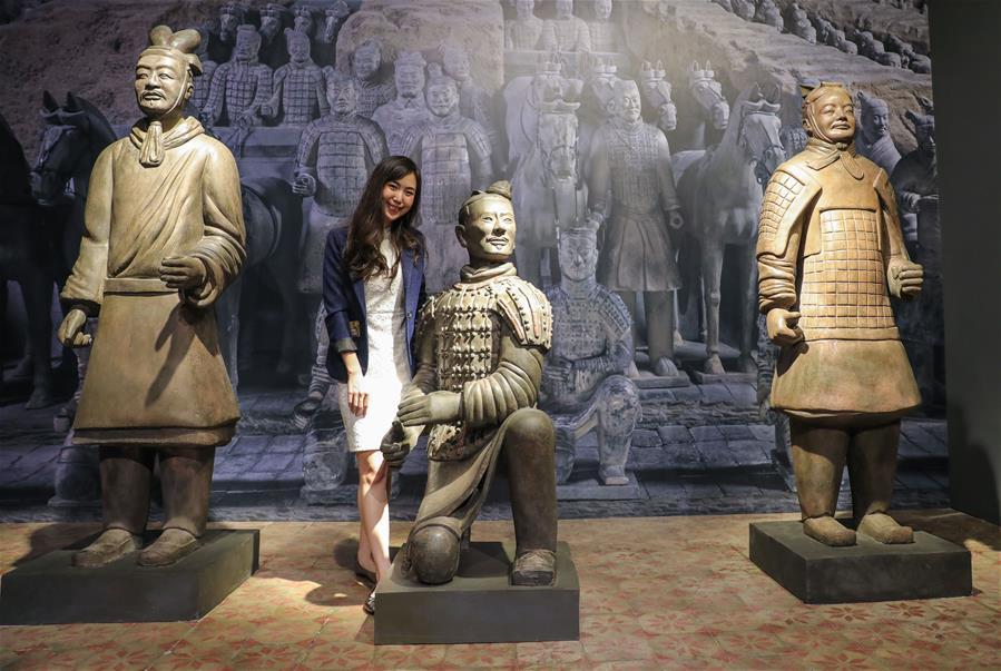 (國際)(1)秦始皇兵馬俑首次在泰國展出