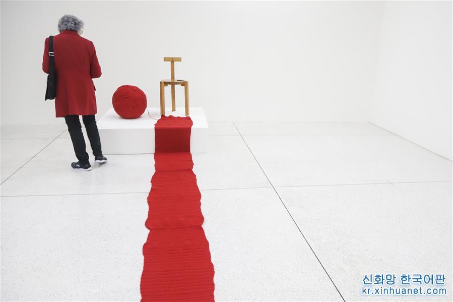 (國際·圖文互動)(1)巴西庫裏蒂巴雙年展開幕 中國藝術品引人注目