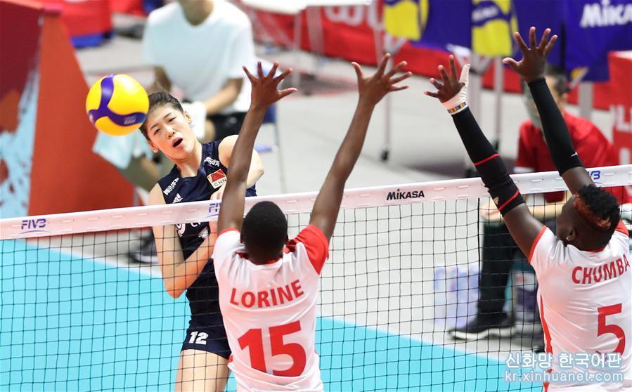 (體育)(5)排球——女排世界杯:中國隊戰勝肯尼亞隊