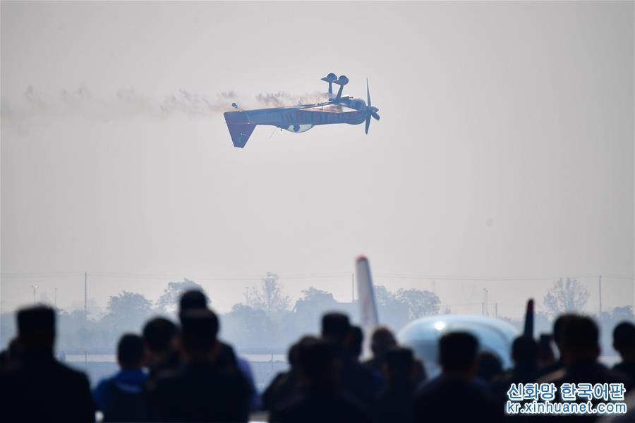 """(社會)(5)2019中國國際通用航空大會上演藍天""""炫舞"""""""
