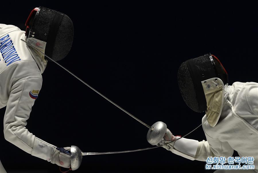 (軍運會)(1)擊劍——烏克蘭選手獲得男子重劍冠軍